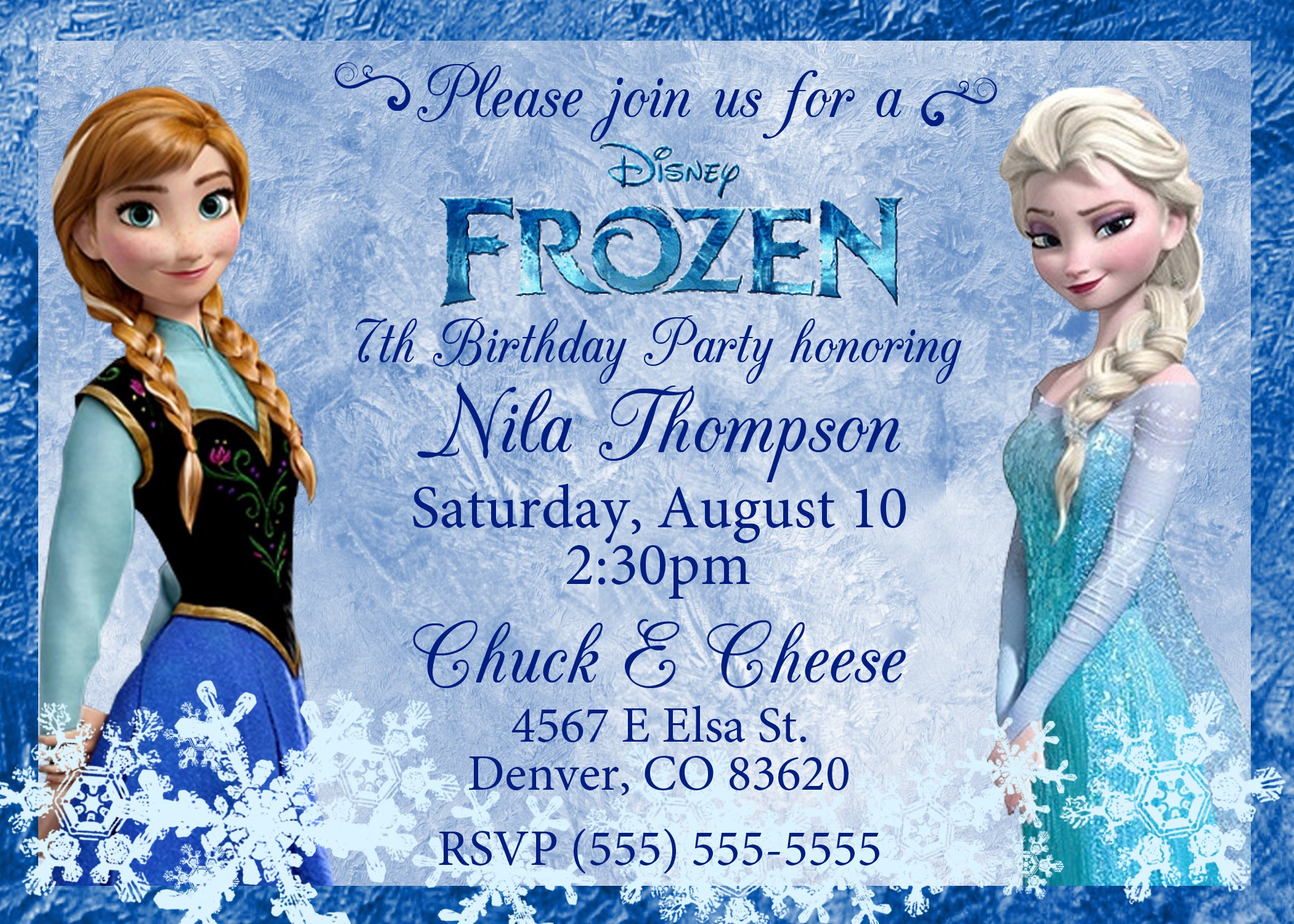 Printable Party Invitations Frozen