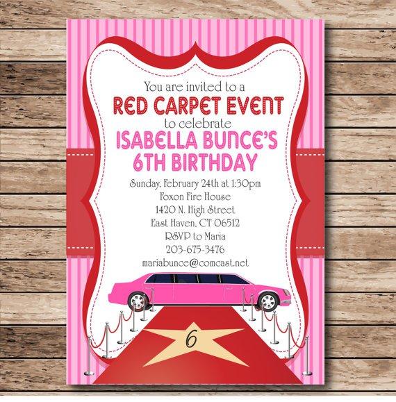 Printable Red Carpet Invitations