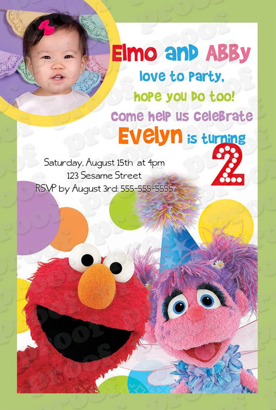 Blank Sesame Street Birthday Invitations