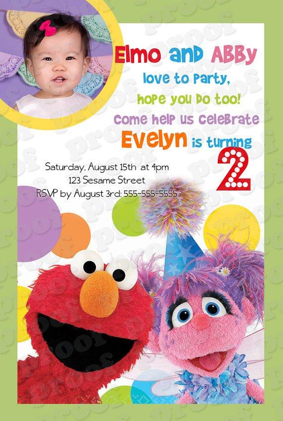 Blank Sesame Street Birthday Invitations