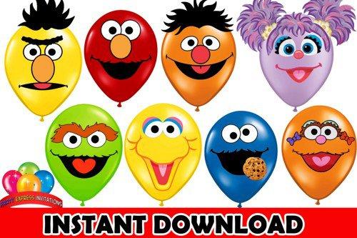 Printable Sesame Street Birthday Party Invitations