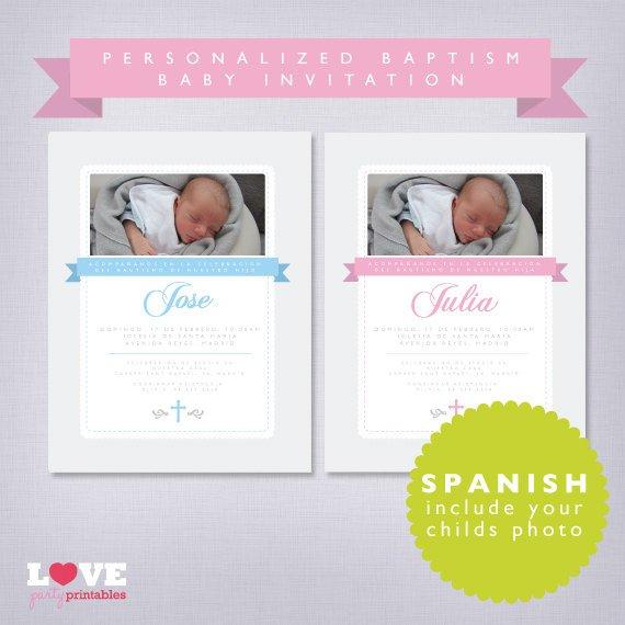 Printable Spanish Baptism Invitations