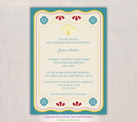 Printable Spanish Invitations
