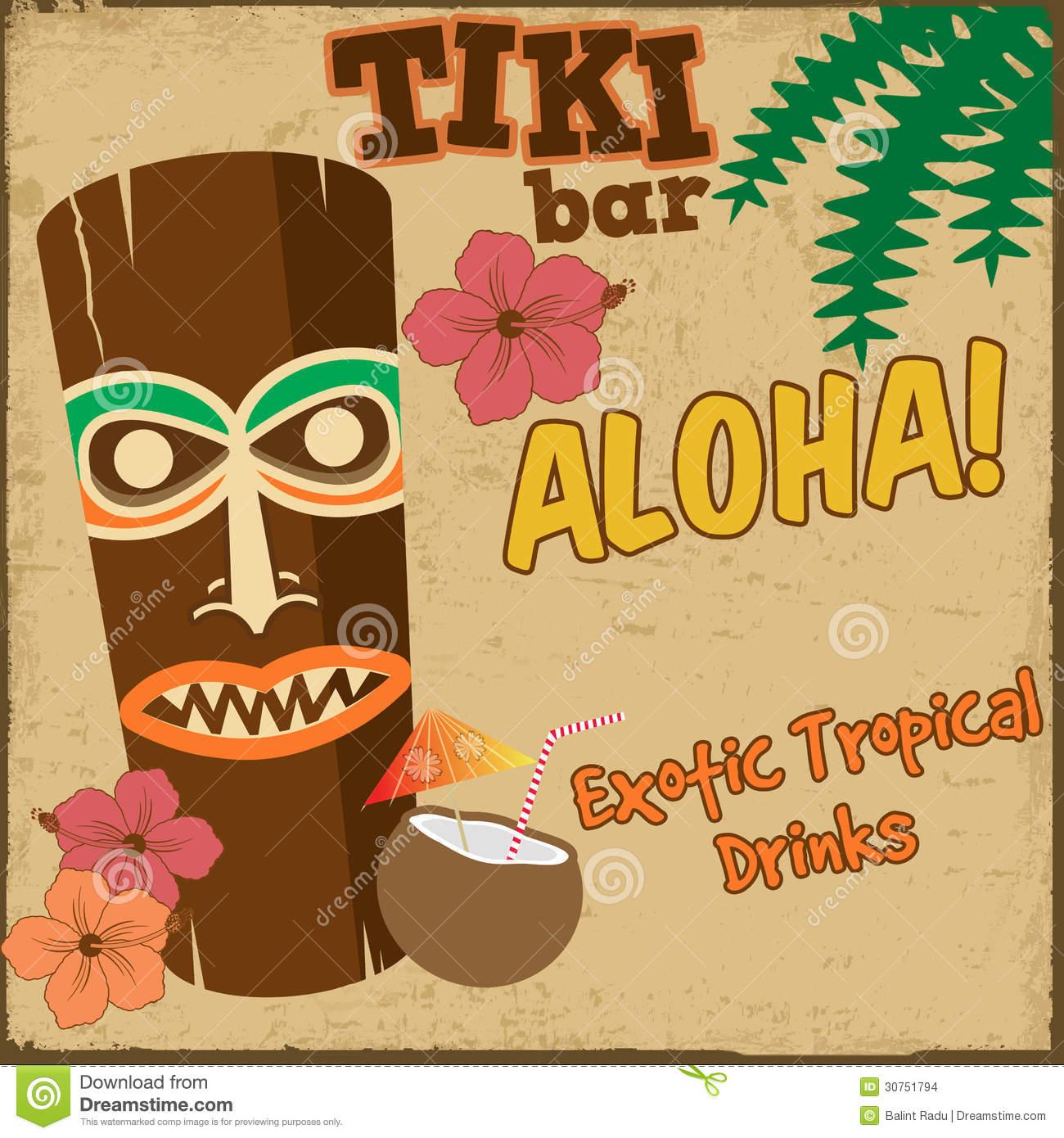 Printable Tiki Bar Sign
