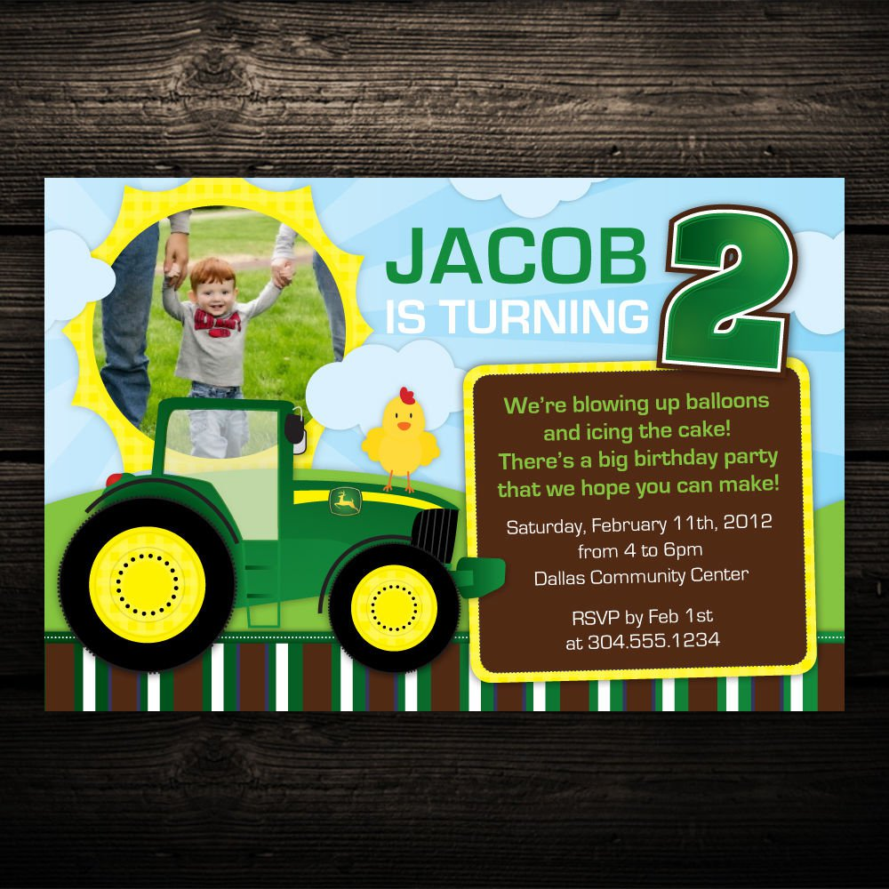 Printable Tractor Invitations