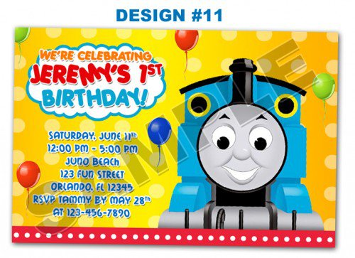 Printable Train Party Invitations