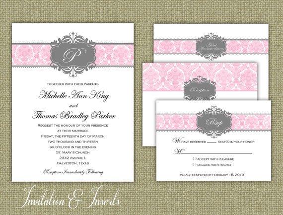Printable Wedding Invitation Inserts