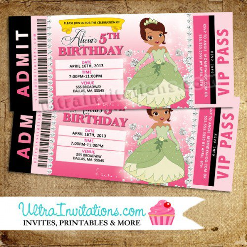 Printables For A Princess And The Frog Baby Shower Invitation