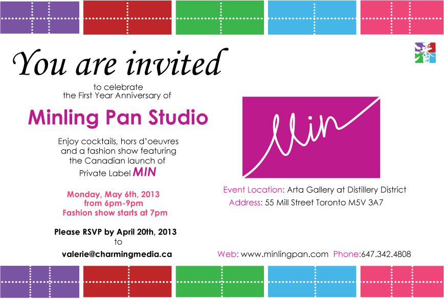 Product Launch Invitation Card