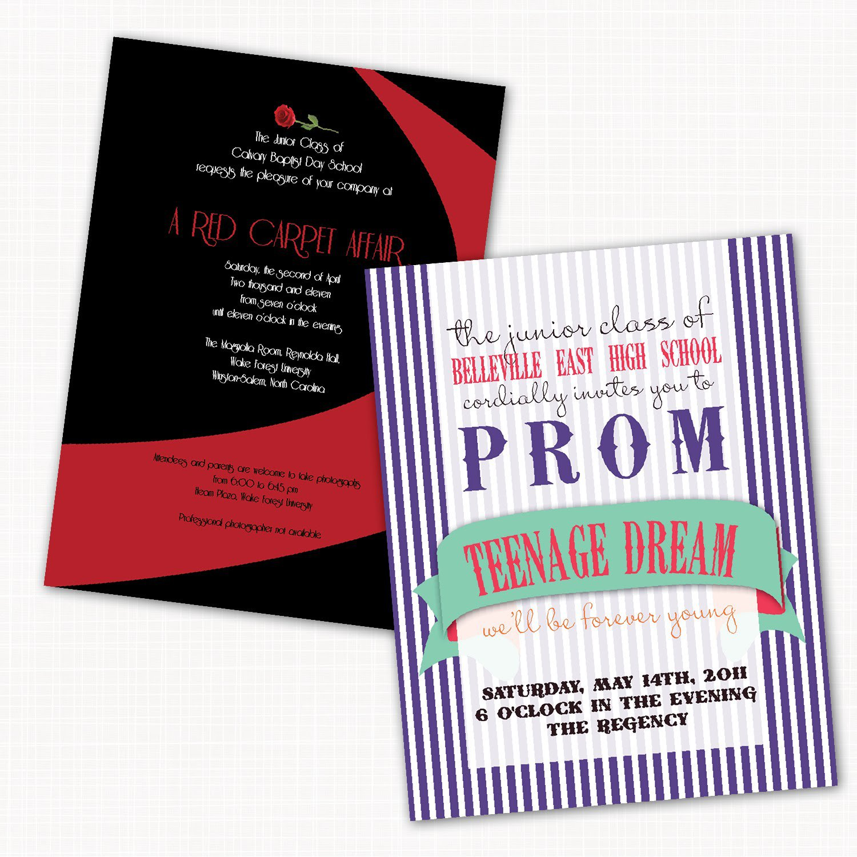 Prom Invitations Blank