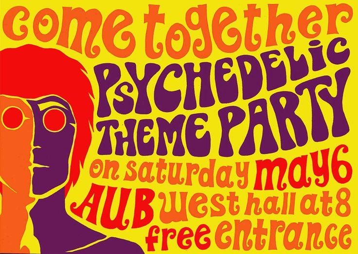 Psychedelic Birthday Party Invitations