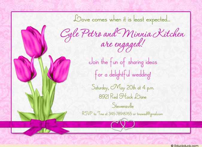 Purple And Green Damask Wedding Invitations