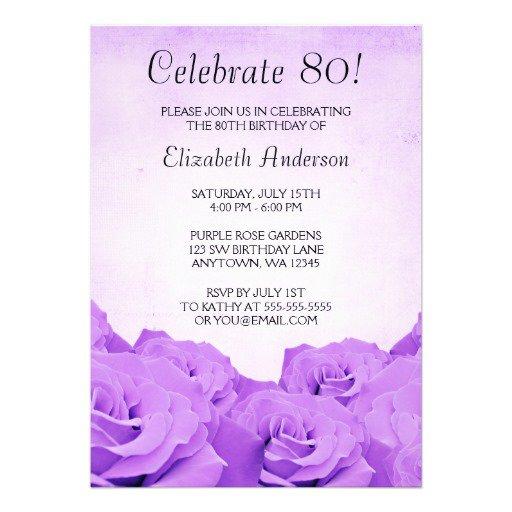 Purple Birthday Invitations Uk