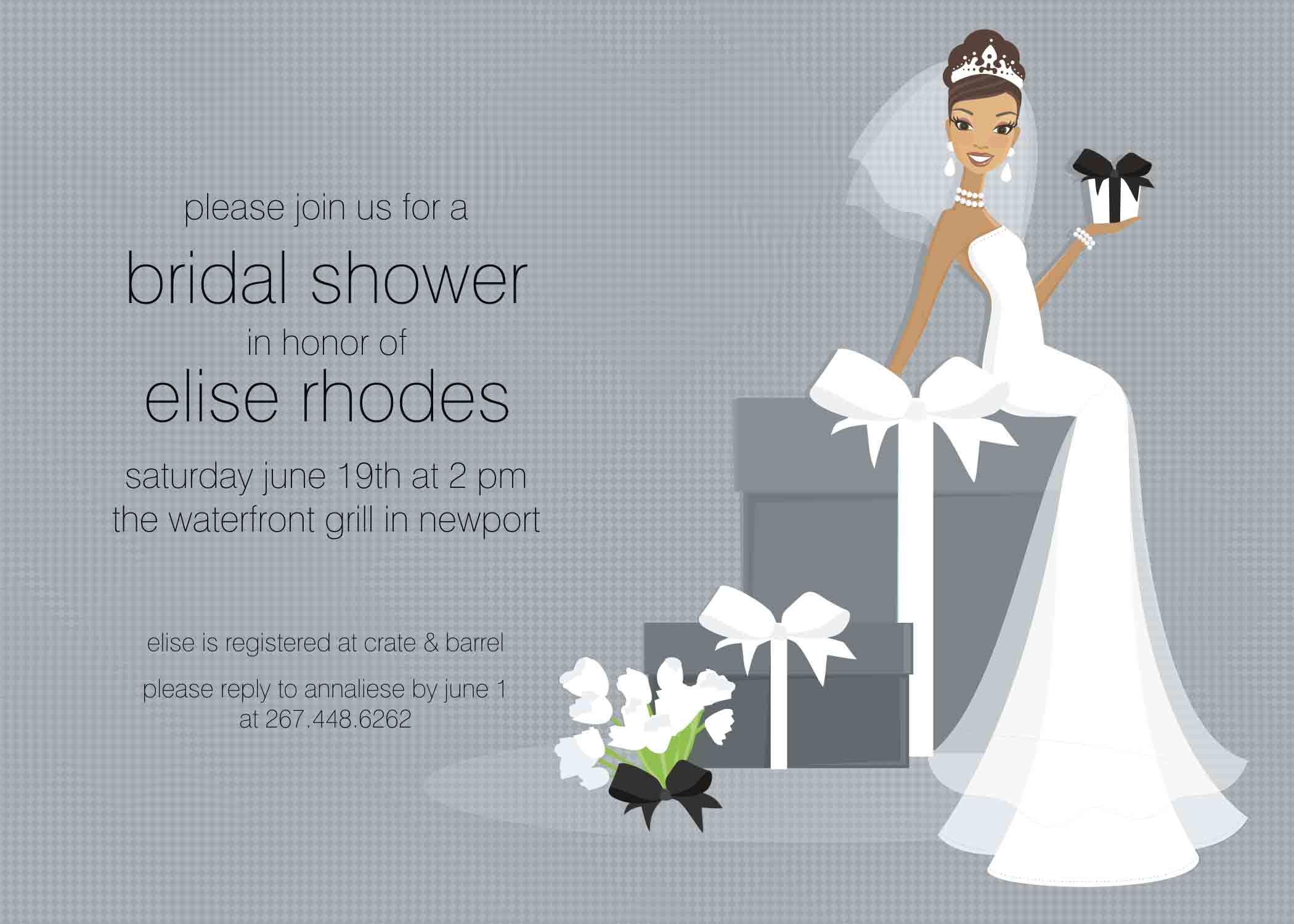 Purple Bridal Shower Invitations Templates