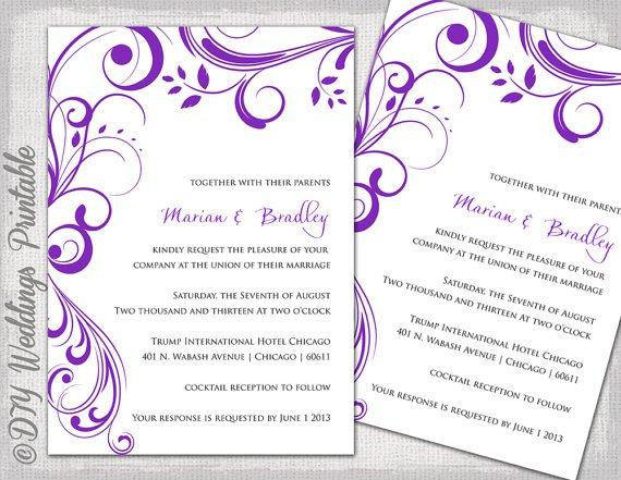 Purple Invitation Maker