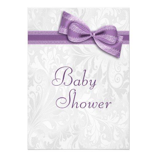 Purple Princess Baby Shower Invitations