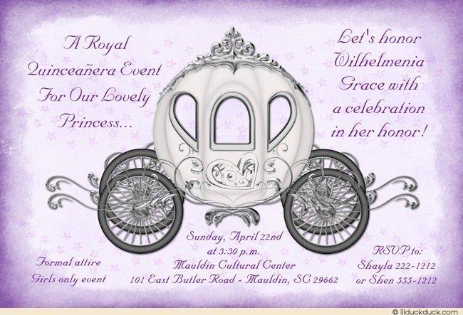 Quince Invitations Purple Heart