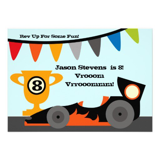 Race Car Birthday Invitations Free