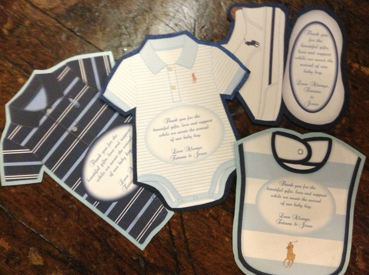 Ralph Lauren Polo Baby Shower Invitations