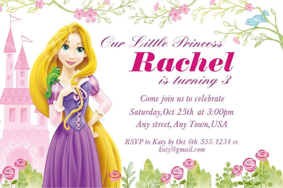 Rapunzel Birthday Invitations – sweetkingdom.co