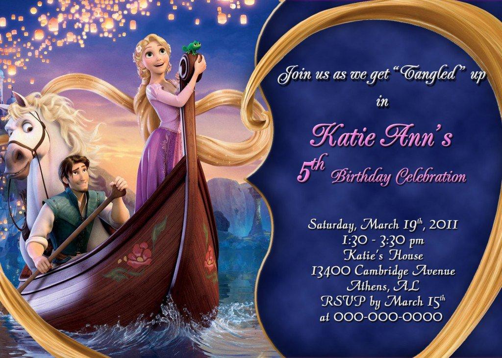 Rapunzel Party Invitations Templates