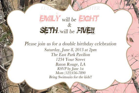 Realtree Camo Birthday Invitations