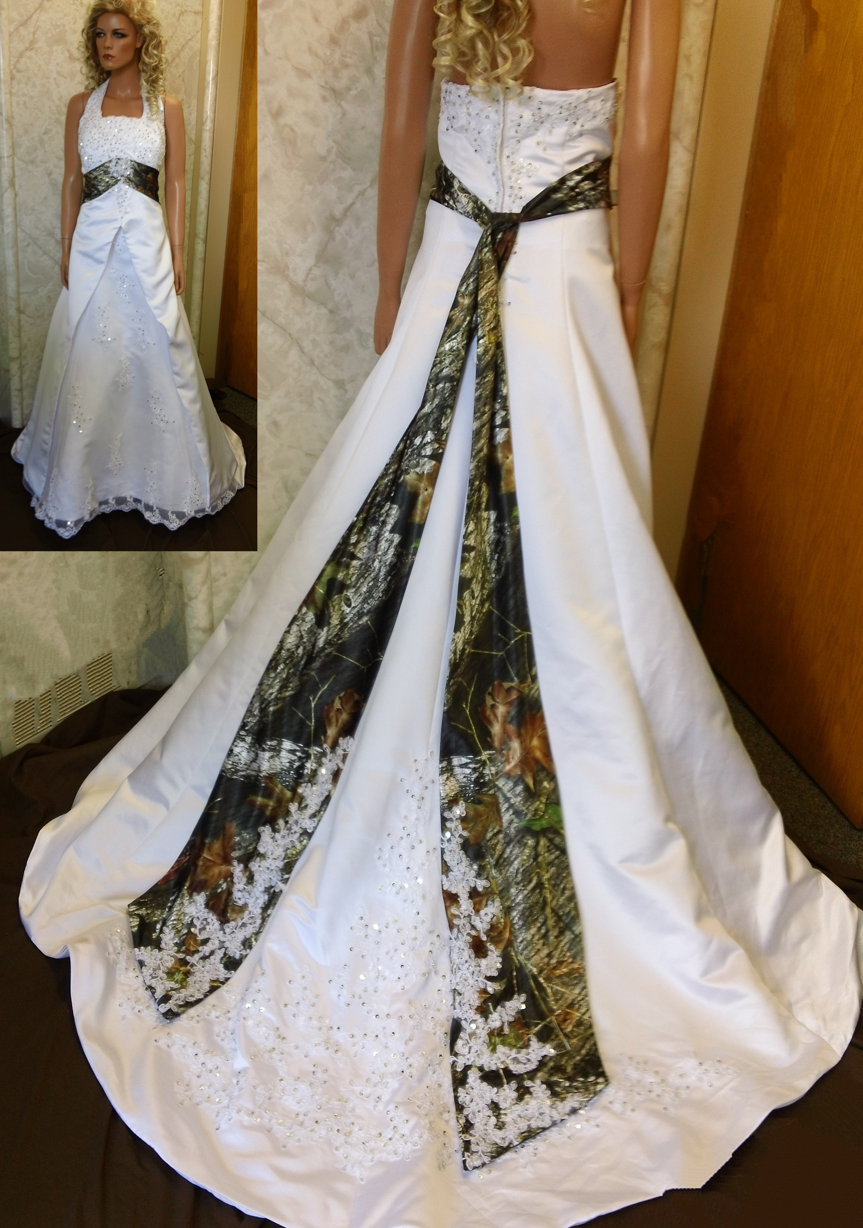Realtree Snow Camo Wedding Invitations