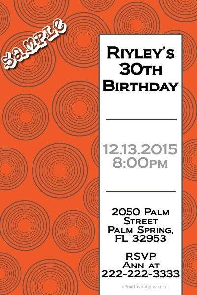 Record Birthday Invitations