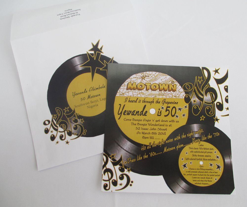 Record Motown Party Invitation