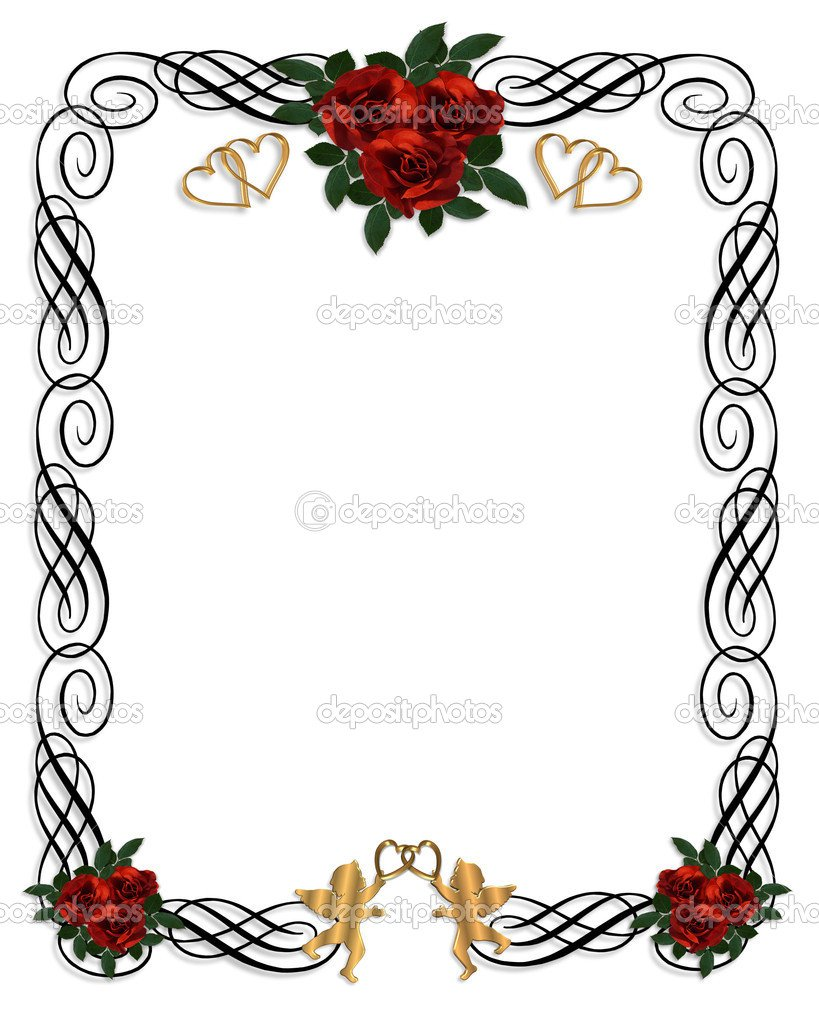 Red And Black Blank Invitations Templates