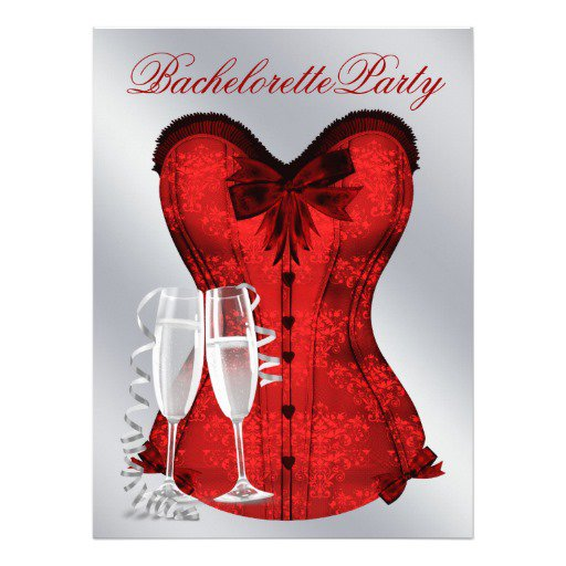 Red Bachelorette Party Invitations
