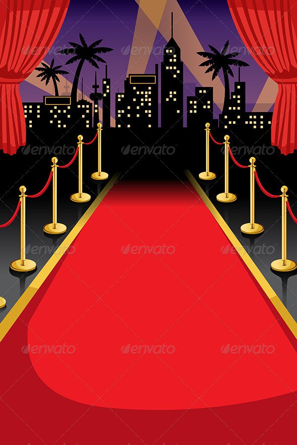 Red Carpet Invitation Background