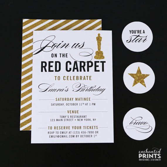 Red Carpet Invitations Free