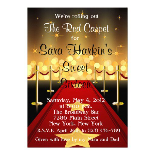 Red Carpet Invitations Templates