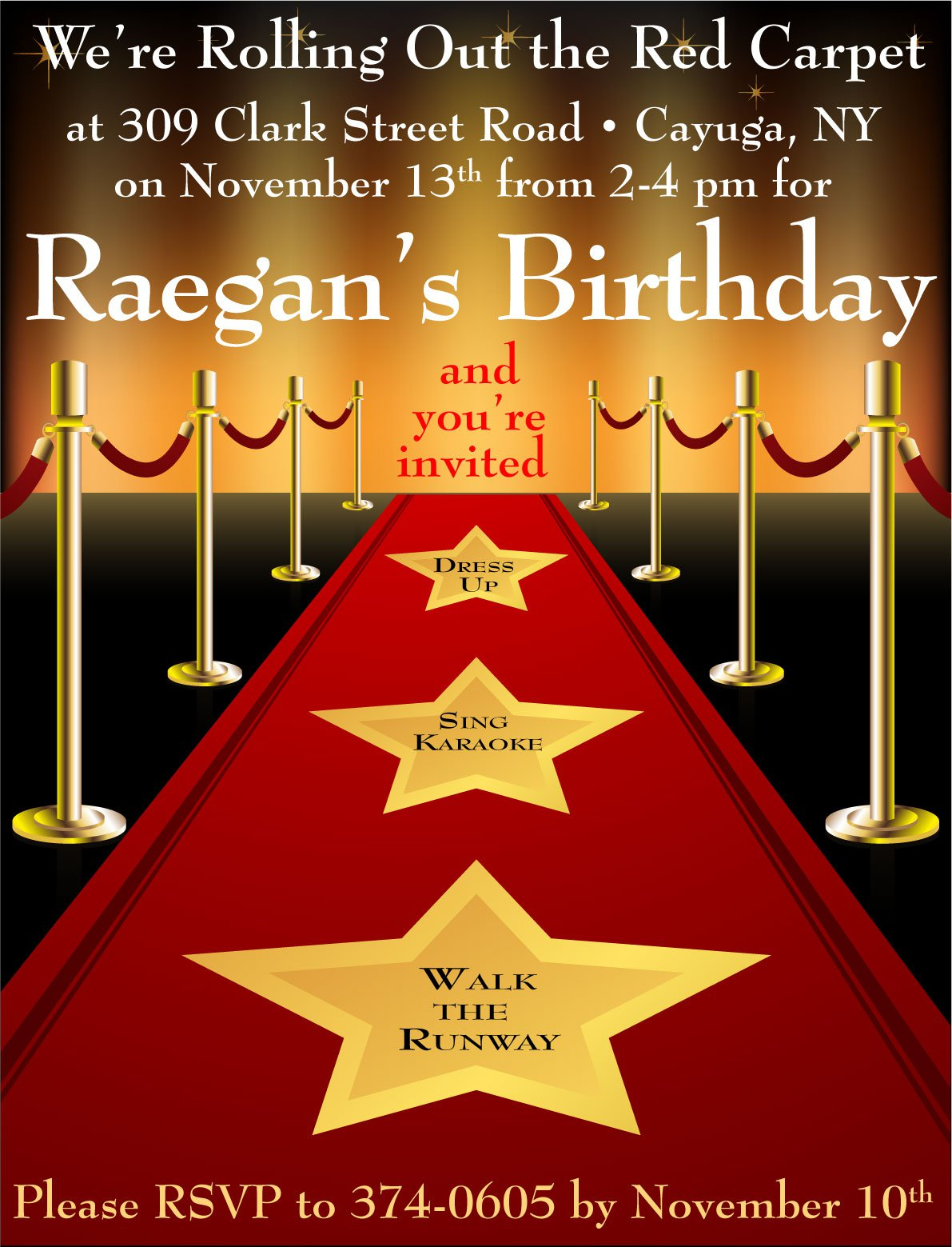 Red Carpet Invitations Templates on oscar party invite