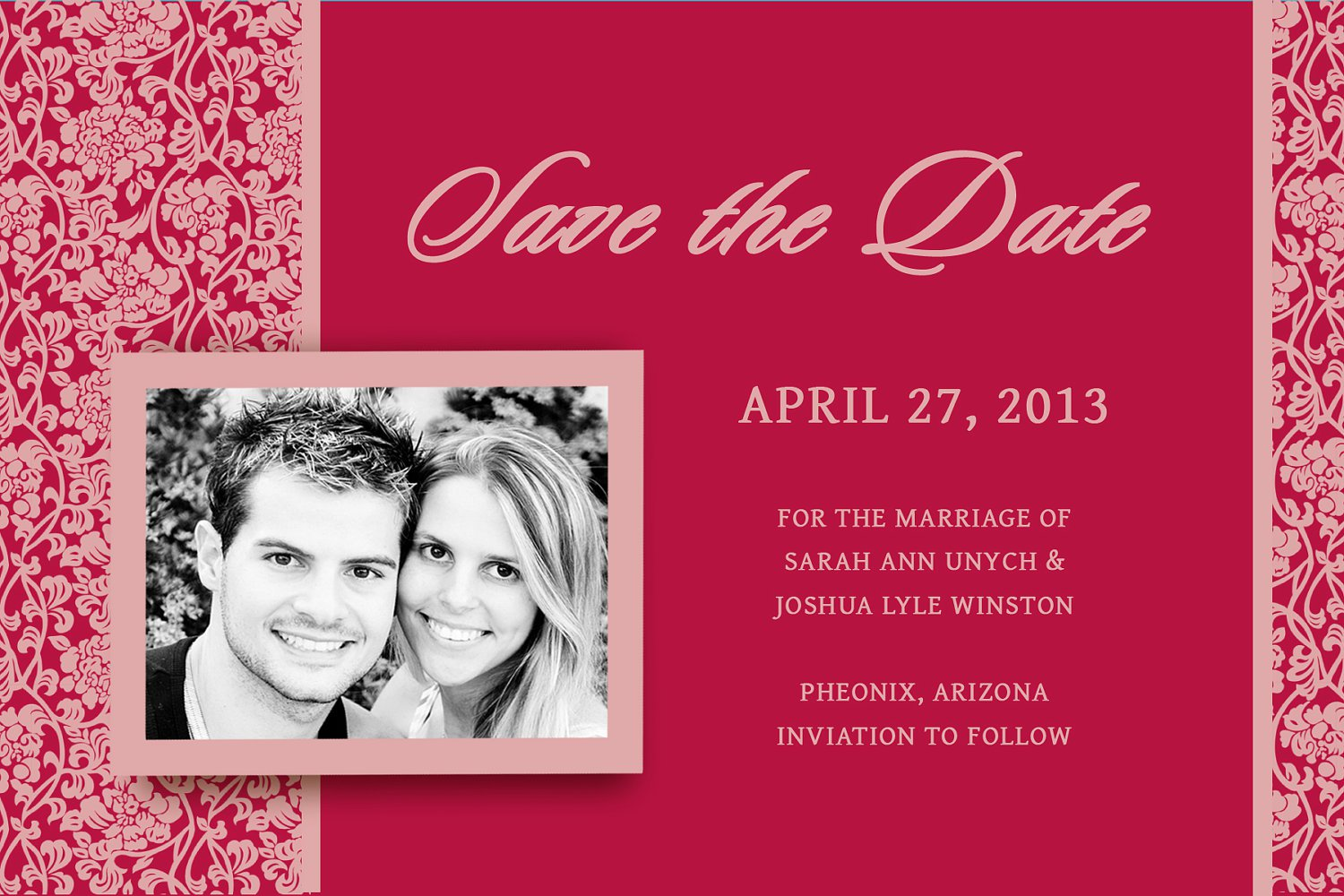 Red Heart Wedding Invitations