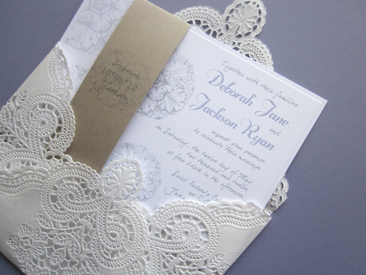 Red Lace Wedding Invitations