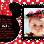 Red Minnie Mouse Invitations Template