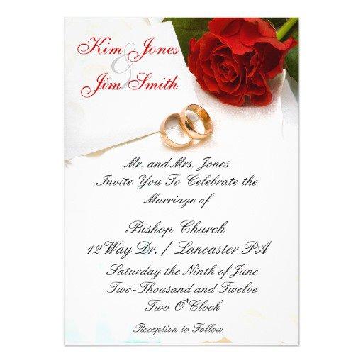 Red Roses Wedding Invitation Templates