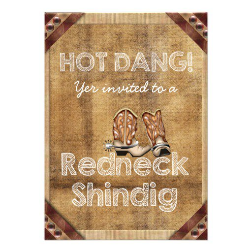 Redneck Party Invitations