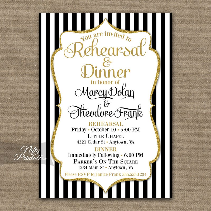 Rehearsal After Party Invitations