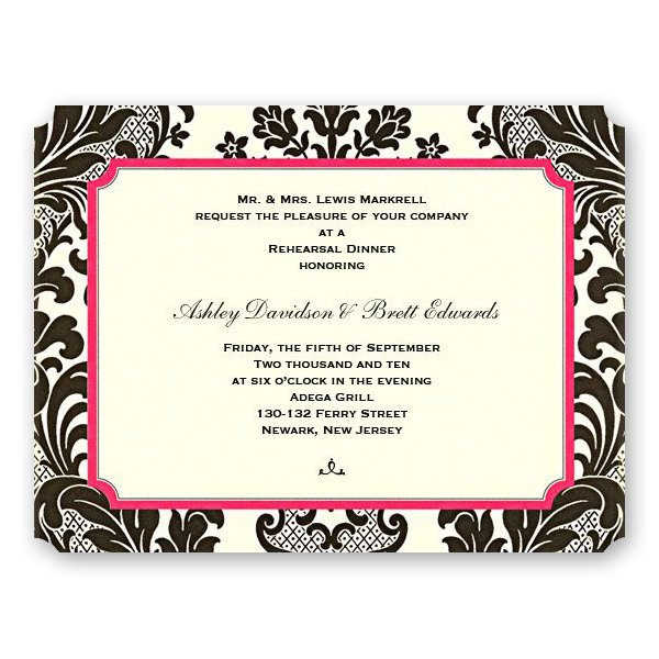 Rehearsal Dinner After Party Invitations