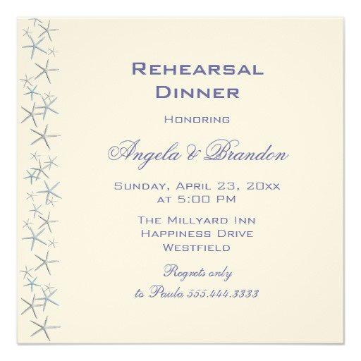 Rehearsal Dinner Invitation Paper