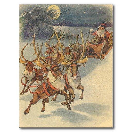 Reindeer Christmas Blank Invitations