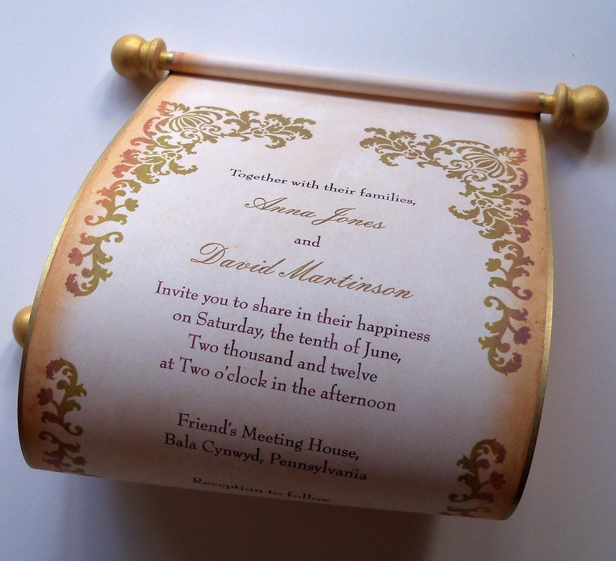 Renaissance Scroll Invitations