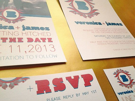 Retro Beach Wedding Invitations