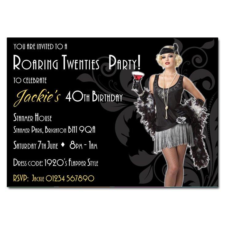 Roaring 1920s Party Invitations