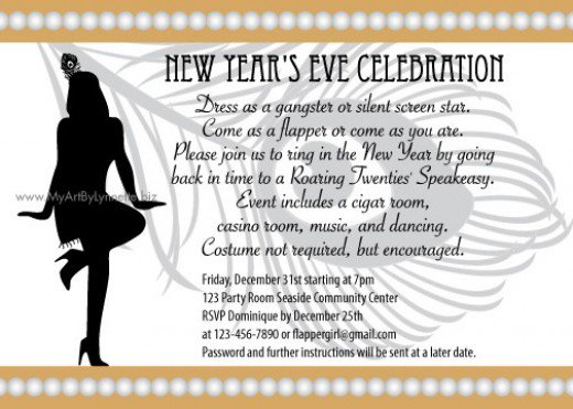 Roaring 20 S Invitation Wording