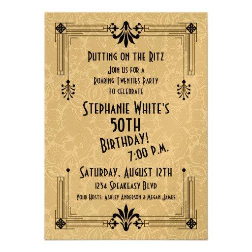 Roaring 20s Birthday Invitations