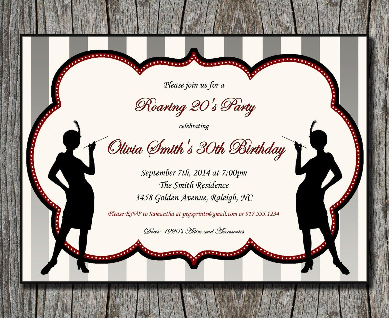 Roaring 20s Party Invitations